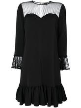 JUST CAVALLI   платье с оборками и прозрачными деталями Just Cavalli   Clouty