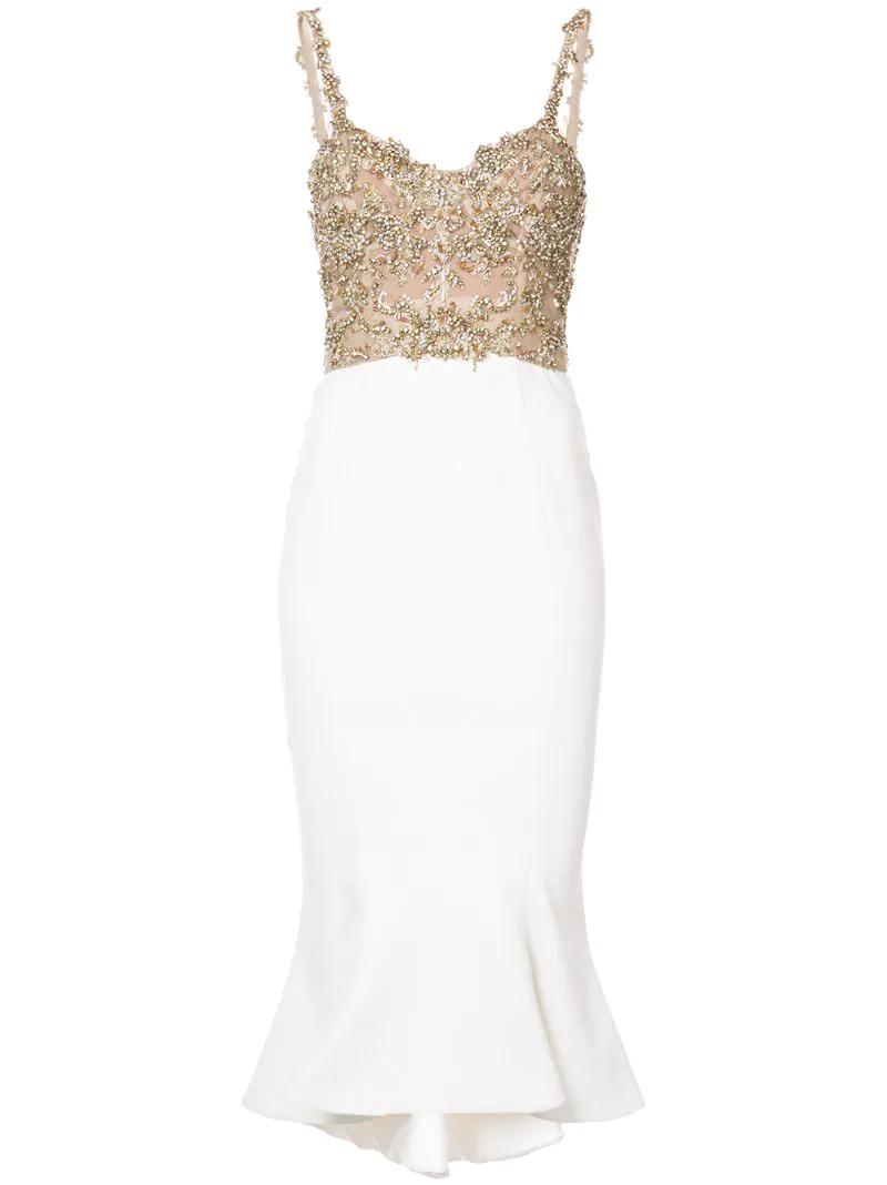 90e2e0e5a5f Платье с баской Marchesa CL000019511562 - цена 194471 руб.