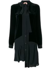 No. 21 | платье с завязкой на вороте и отделкой камнями  Nº21 | Clouty
