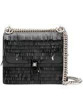 FENDI | мини-сумка на плечо 'Kan I' с бахромой Fendi | Clouty