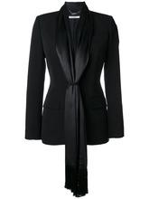 GIVENCHY | приталенный блейзер с атласными завязками Givenchy | Clouty