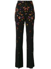 GIVENCHY | строгие брюки с цветами Givenchy | Clouty