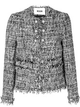 MSGM | приталенный пиджак с бахромой по краям MSGM | Clouty