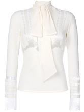 Ermanno Scervino | блузка с длинными рукавами и кружевной вставкой  Ermanno Scervino | Clouty