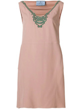 PRADA | платье с отделкой стразами у выреза | Clouty