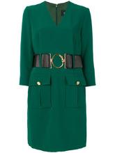 Cavalli Class | платье с V-образным вырезом и поясом Cavalli Class | Clouty