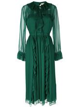 No. 21   платье с плиссировкой и оборкой  Nº21   Clouty