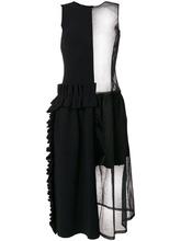 Paskal   платье с прозрачной вставкой и оборкой  Paskal   Clouty
