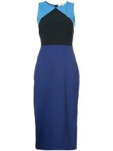 Diane Von Furstenberg | приталенное платье дизайна колор-блок Dvf Diane Von Furstenberg | Clouty