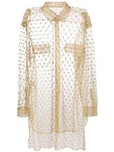 Maison Margiela | блестящая прозрачная декорированная рубашка Maison Margiela | Clouty