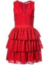 Alice + Olivia   платье с оборками без рукавов Alice+Olivia   Clouty