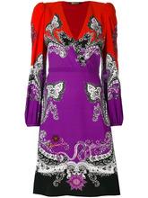 Roberto Cavalli | платье c V-образным вырезом и узором пейсли Roberto Cavalli | Clouty
