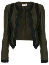 SAINT LAURENT | пиджак с фестончатой отделкой Saint Laurent | Clouty