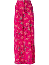 VALENTINO | брюки-палаццо с цветочным принтом Valentino | Clouty