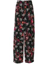 VALENTINO | брюки палаццо с цветочным узором Valentino | Clouty