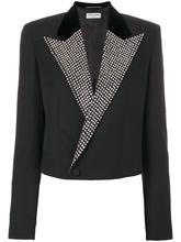 SAINT LAURENT   укороченный пиджак с декорированными лацканами Saint Laurent   Clouty