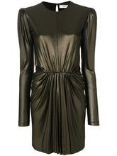 SAINT LAURENT   платье со сборкой на талии Saint Laurent   Clouty