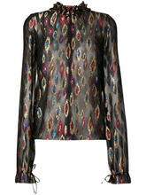 SAINT LAURENT   блузка с металлическим отблеском Saint Laurent   Clouty