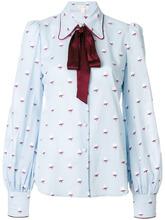 Marc Jacobs | блузка с завязкой на шее и розами  Marc Jacobs | Clouty