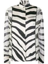 LANVIN | рубашка с зебровым принтом | Clouty