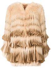GIVENCHY | шуба из лисьего меха с плиссировкой Givenchy | Clouty