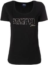 Armani Jeans | футболка с логотипом из пайеток  Armani Jeans | Clouty