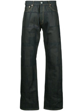 junya watanabe man   широкие джинсы с графическим принтом   Clouty