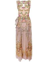 Alberta Ferretti | плиссированное платье с цветочной вышивкой  Alberta Ferretti | Clouty