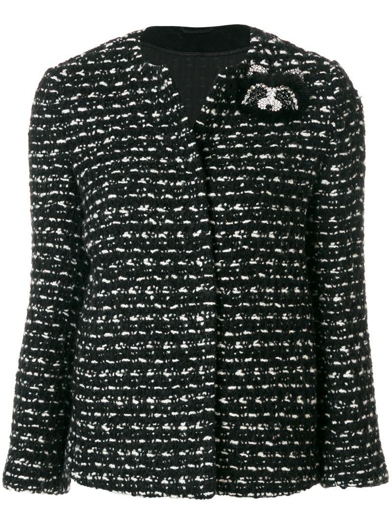 Ermanno Scervino | Чёрный твидовый пиджак букле  Ermanno Scervino | Clouty