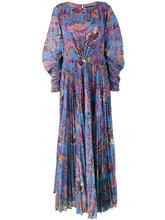 Etro | платье макси с цветочным принтом и плиссировкой  Etro | Clouty