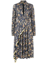Adam Lippes | асимметричное платье с цветочным принтом Adam Lippes | Clouty