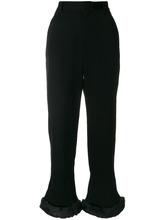 Comme Des Garçons | брюки с завышенной талией и меховой отделкой  Comme Des Garcons Noir Kei Ninomiya | Clouty