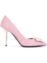 Versace | туфли 'Medusa' с отделкой стразами Versace | Clouty