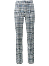 Off-White | брюки с завышенной талией и принтом тартан  Off-White | Clouty