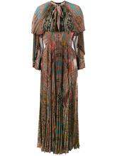 Etro | плиссированное платье с длинными рукавами с принтом Etro | Clouty