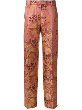 Etro | брюки с завышенной талией и цветочным принтом  Etro | Clouty