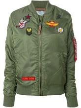 Alpha Industries | куртка бомбер с нашивками Alpha Industries | Clouty