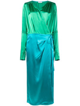 Attico | атласное платье с запахом  Attico | Clouty