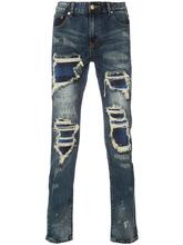 God's Masterful Children   джинсы скинни с потертой отделкой   Clouty