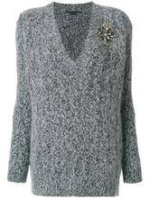 Ermanno Scervino | свитер с V-образным вырезом и аппликацией | Clouty