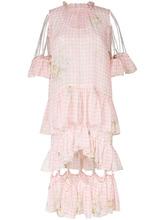 CHRISTOPHER KANE   платье в клетку гингем с отделкой цепочками Christopher Kane   Clouty