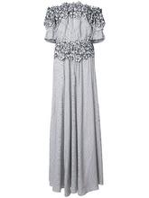 Zac Zac Posen | вечернее платье 'Maia' с цветочной вышивкой | Clouty