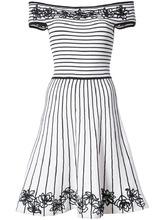 Zac Zac Posen | платье 'Becca' в полоску с цветочной вышивкой Zac Zac Posen | Clouty