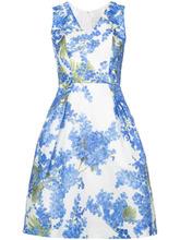 Carolina Herrera   платье с V-образным вырезом и принтом  Carolina Herrera   Clouty
