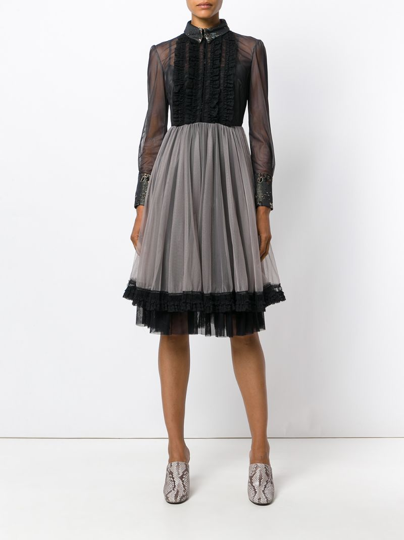 Antonio Marras | Чёрный платье из тюля с оборками Antonio Marras | Clouty