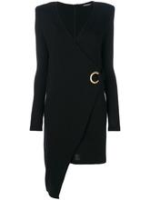 BALMAIN | асимметричное платье с запахом Balmain | Clouty