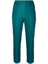 ISSEY MIYAKE | укороченные брюки в рубчик  Pleats Please By Issey Miyake | Clouty