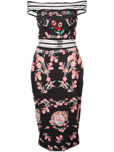 Pat Bo | платье с цветочным рисунком и вышивкой бисером Patbo | Clouty