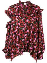 Magda Butrym | блузка с открытыми плечами и цветочным узором 'Forli' Magda Butrym | Clouty