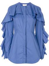 Sara Battaglia | рубашка с оборками | Clouty